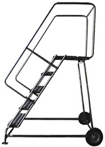 5 Step Wheelbarrow Ladder,Serrated Treads