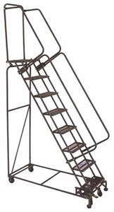 5 Step Weight-Actuated Ladder,Exp Metal Treads