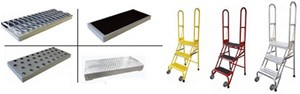 Stock N Store Folding Rolling Ladders, Aluminum