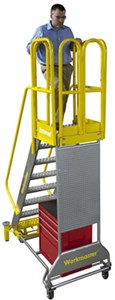 Workmaster Super Duty Rolling Metal Ladder
