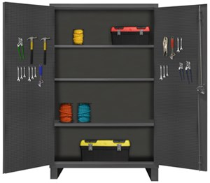 Extra Heavy Duty Pegboard & Shelf Cabinet