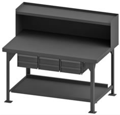 Heavy Duty Workbench with Riser-12000 Capacity