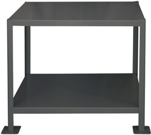 Heavy Duty Machine Table 2 Shelves- 3000 lbs Cap