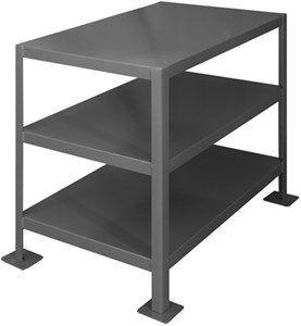 Machine Table W/3 Shelves - 2000 lbs Cap