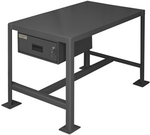 Machine Table Top Shelf W/Drawer - 2000 lbs Cap