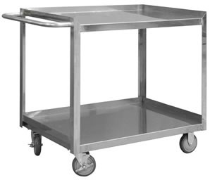 Stainless Steel Shelf Stock Carts, 1200lbs Cap.