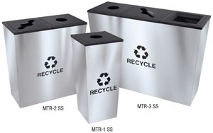 Metro Collection Double Stainless Steel Receptacle