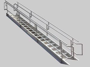 Aluminum Industrial/Institutional IBC Stairs