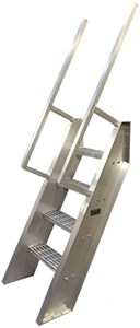 Welded Aluminum Ships Ladder Steep Incline