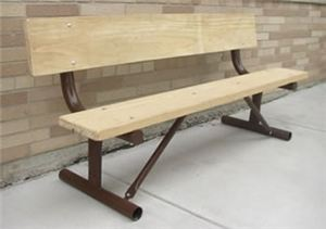 Galv. Heavy Duty Portable Park Bench Frame Only