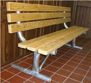HD 6' Portable Bench w. 2x4 Lumber, Galv. Frame
