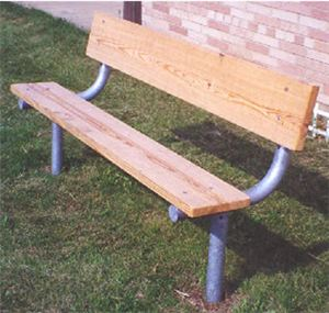 HD 6' Stationary Bench w. 2x10 Recycled Plastic