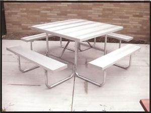 16 Ga. Galv. Square Table Frame w. Aluminum