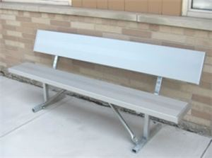 Std. 6' Portable Bench,Recycled Plastic,Galv Frame