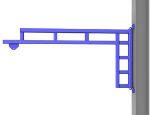 Wall Cantilever Workstation Jib,12'Span,100#