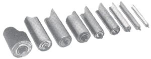 "1.9""dia x 9ga Unplated Replacement Roller,21"" BR"