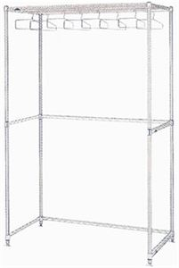 Stainless Steel 23 Hanger Garment Upright Rack