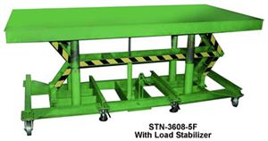 Long-Deck Hydraulic Foot Operated Lift Table