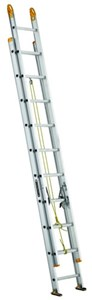 Aluminum Two Section Extension,24ft,D Rung