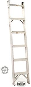 Aluminum Shelf Ladder, 10ft