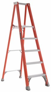 Fiberglass Platform Ladder, 3ft