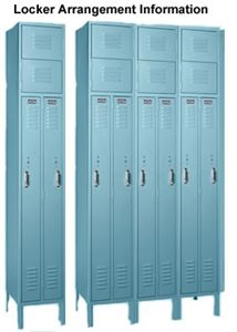 Two Person Locker, 1 Frame Wide, 4 Openings