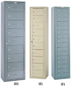 16 Compartment Locker w/Combination Lock, Set Up