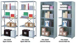 Closed Shelving Starter w/6Shelves,36Wx18Dx84H