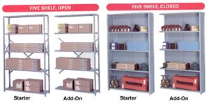 48inW Closed Shelving Add-On