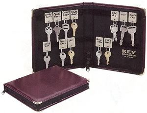 Portable Zippered Key Case,Burgundy(24 Tags)