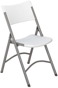 Grey Blow Molded Plastic Folding Chairs (Qty of 4)