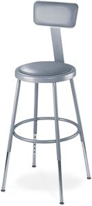 "30"" Stool with Padded Seat & Backrest"