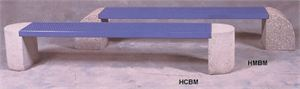 Steel & Concrete Bench,85 1/4 x 15 1/2 x 16