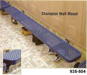 8' Champion Bench w/out Back, Wall Mount