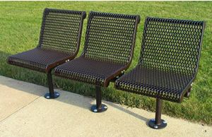 2 Seat In-Line Contour, Welded Rod, Surface Mount