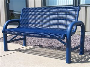 6' Grand Contour Bench, Welded Rod, Direct Bury