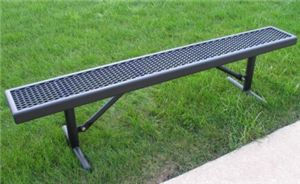 15' Bench without Back,Wall Mount,Perforated