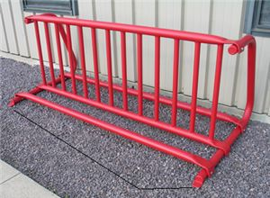 Gate Style Bike Rack, Free Standing, Fits 12 Bikes