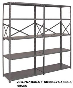 IRONMAN 20 Ga Steel Open Shelving - Add-On Unit