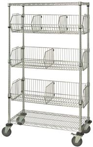 "Mobile Wire Basket Unit, 63""H"