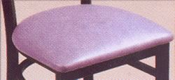 Ladder Back Stool with Upholstered Seat