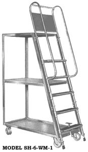 High Deck Stock Picker Ladder Cart