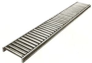 "1.9"" PVC Roller Conveyor, 10 Ft"