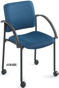 Mobile Stack Chair, Charcoal (2 Pack)