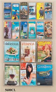 6 Magazine 12 Pamphlet Display, Clear