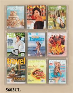 9 Magazine Display, Clear