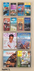 4 Magazine 8 Pamphlet Display, Clear