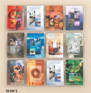 12 Booklet Display, Clear