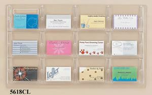 12 Business Card Display, Clear