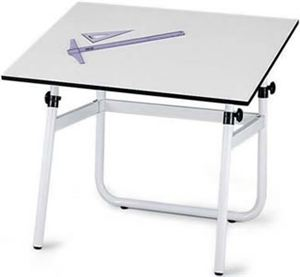 Horizon Drawing Table Base, White
